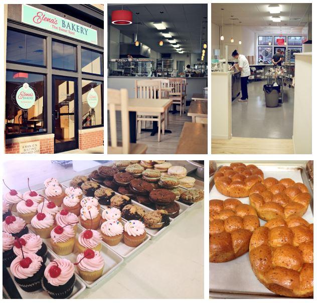 A collage of photos from Elenas Bakery.