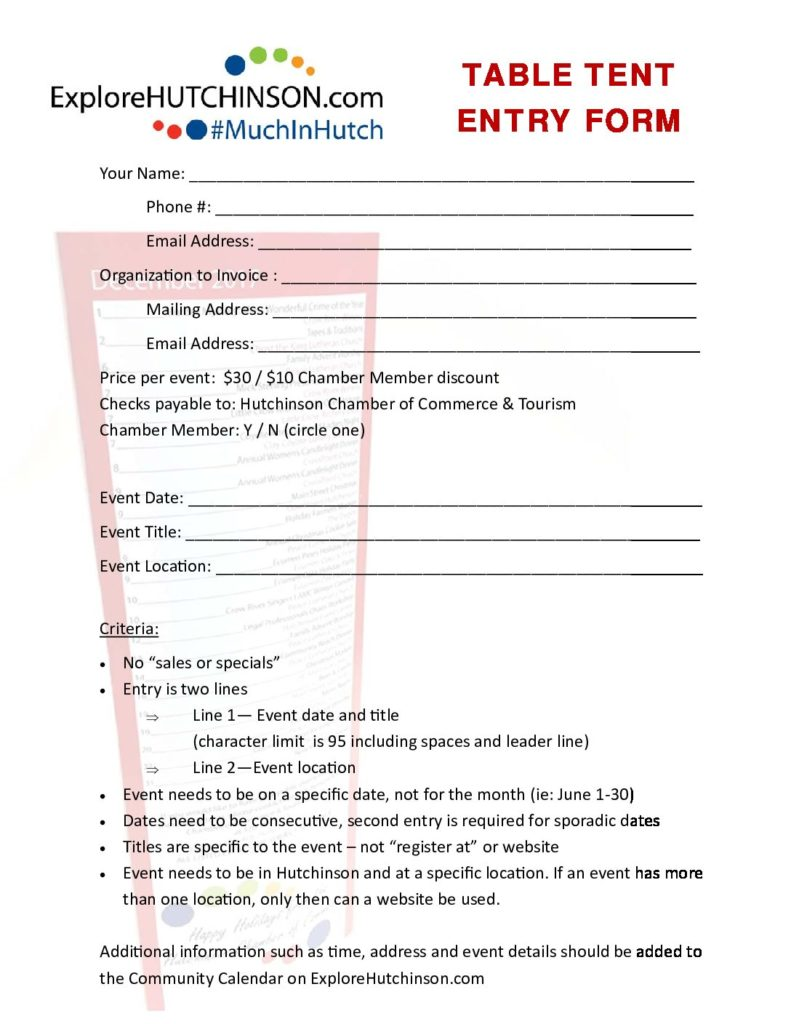 Table Tent Entry Form (pdf)