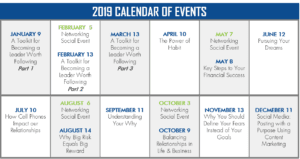 PULSE Calendar of Events for 2019
