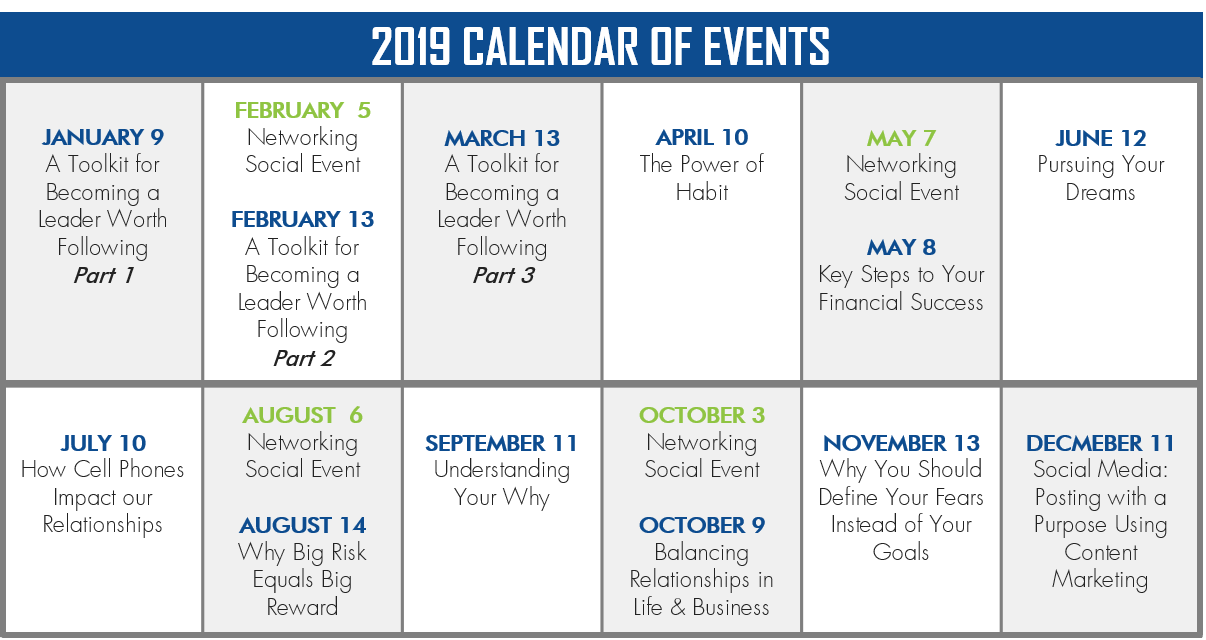 PULSE Calendar of Events for 2019 pdf